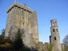 Blarney Castle, County Cork, Ireland - built 1210 (original stone structure) - and 1556 (current structure) - built by MacCarthys of Muskerry