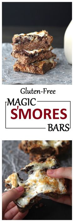 Gluten-Free Magic S'mores Bars by Gluten-Free Palate  Sub Quinoa flakes for oats?
