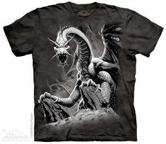 3D Black Dragon T-shirt