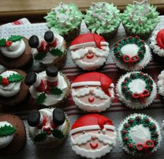 Quick and Easy Holiday Desserts - Santa Claus - Click Pic for 24 Christmas Cupcake Ideas and Recipes