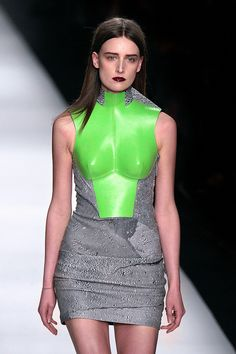 whitaker-malem-fashion-hussein-chalayan-formed-leather-breastplate-dress-01 | Flickr - Photo Sharing!