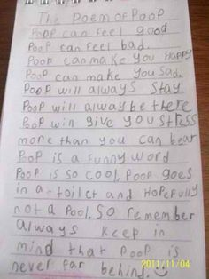 lol!!! and theres a smiley face at the end haha this kid is adorable