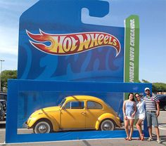 Great example of ambient experiential as Mattel's ad agency AGE Isobar, placed a giant rendition of Hot Wheels packaging at the front of a parking lot last month. Instead of putting a giant Hot Wheel inside, however, the 'box' was empty, and customers could drive their cars inside and then have their pictures taken.