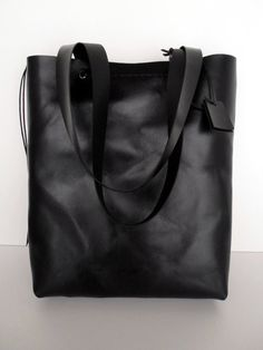 Black Leather Tote Bag - Distressed Leather Bag - Black Leather Bag c6897059a118f