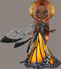 African American Fairy Girl Print By Marcella