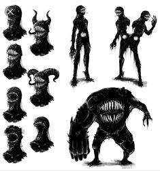 Concept - Tar monster by TheBigBad-Wolf on DeviantArt Mutants & Masterminds Tar Monster (Monster Com Creepy Drawings, Dark Art Drawings, Monster Concept Art, Fantasy Monster, Alien Concept, Monster Drawing, Monster Art, Monster Design, Monster Sketch