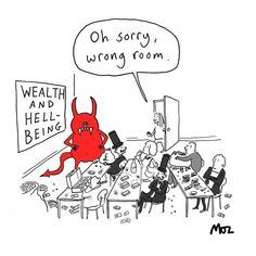 Wealth and Hell-being. In previous Private Eye magazine. Private Eye Magazine, Health And Wellbeing, Self Improvement, Self Help, Wealth, Cartoons, Wellness, Eyes, Comics