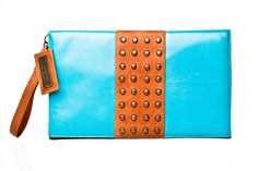 The Blake - Studded leather clutch  http://rockandherr.com