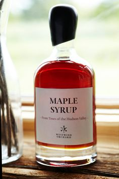The best syrup I've ever had. I got to try this at their orchard this weekend over freshly picked berries and I pretty much passed out from happiness. (Westwind Orchard 2014 Maple Syrup)