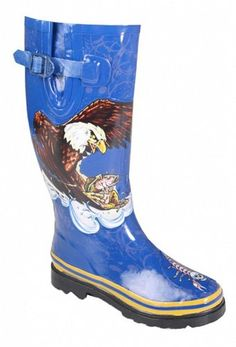 Henry Ferrera Womens Eagle Rain Boots Size 5 Codem6 >>> See this great product.