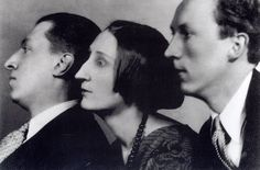 Osbert, Edith & Sacheverell Sitwell