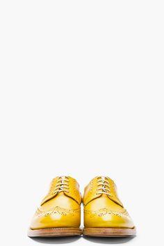 KENZO Mustard Yellow Leather Elliott Wingtip Brogues