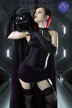 Laura Snuff as Darth Vader.