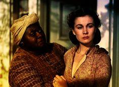 "Hattie McDaniel as Mammy: ""He's her husband, ain't he?"" With Vivien Leigh as Scarlett, ""Gone With the Wind,"" Rhett Butler, Margaret Mitchell, Scarlett O'hara, Olivia De Havilland, Vivien Leigh, Clark Gable, Paulette Goddard, Jean Arthur, Errol Flynn"