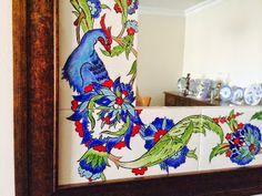 emeklilik hobileri: çinilerim-20 Turkish Art, Turkish Tiles, Jacobean Embroidery, Mirror Tiles, Tile Art, House Design, Blanket, Avril 2017, 26 Avril