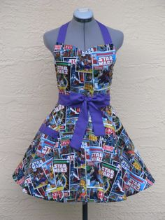 Star Wars Apron - Sexy Comic Strip Vintage - Full of Flounce on Etsy, Costume Star Wars, Halloween Apron, Star Wars Comics, Marvel Comics, Sewing Aprons, Sewing Clothes, Cute Aprons, Geek Chic, Marathon