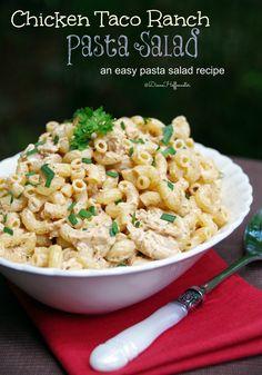 Chicken Taco Ranch Pasta Salad Recipe