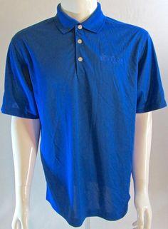 Men's Nike Dri-Fit #BNSF Railway Golf Shirt Polo Blue  Medium #NikeGolf #Polo