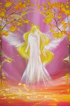 Limited angel art photo, modern angel painting, artwork, acrylics, print, glossy photo,