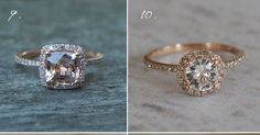 Rose gold!! And white sapphire    http://www.100layercake.com/blog/2011/05/25/rose-gold-ring-roundup/