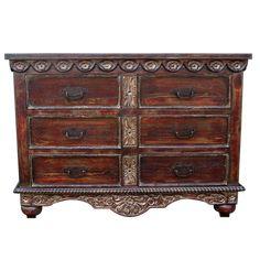 ZOILA DRESSER | Spanish Colonial dressers | Spanish Colonial bedroom | Spanish Colonial Furniture