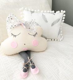 Miss Angel Ilaria Cloud Pillow Ballerina Miss Silver Sparkle, Children's Decor, Kids Decor, Kids Rooms, Nursery, Home Decor, Homewares, Homewares Online