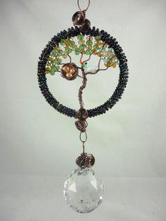 Tree of life crystal suncatcher with bird & by LifeForceEnergy, $34.00