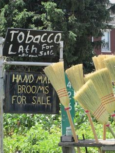 Road side stands sell everything from brooms to produce to used farm equipment