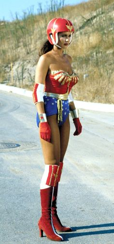 Lynda Carter as Wonder Woman (I'm pretty sure nobody's ever looked this hot in a helmet!!!! :) ....)