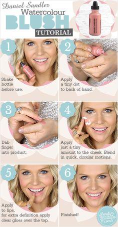 Daniel Sandler Watercolour Fluid Blusher, Beauty and the Boutique Blusher Makeup, Blusher Tips, Beauty Secrets, Beauty Hacks, Beauty Tips, Diy Beauty, Beauty Skin, Beauty Makeup, How To Apply Blusher