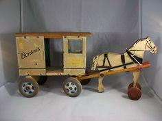 Bordens Horse Drawn Toy Milk Wagon Rich Toys 1920S