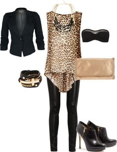 Fall Trend: Leather Leggings (Night Outfit)