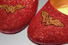 Wonder Woman Glitter Flats \\ WANT.
