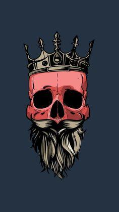 20 Seriously Beast Pictures Of Skulls Cartoon Wallpaper, Wallpaper Backgrounds, Iphone Wallpaper, T Shirt Art, Skull Artwork, Joker Art, Tatoo Art, Skull And Bones, Oeuvre D'art