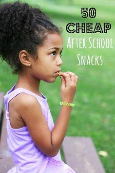 50 Cheap After School Snack Ideas, from CheapRecipeBlog.com