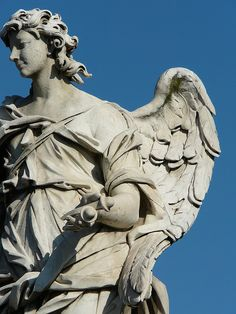 Bernini angel on the Pont Sant Angelo. Italy ~ Photo by colleenbaptista