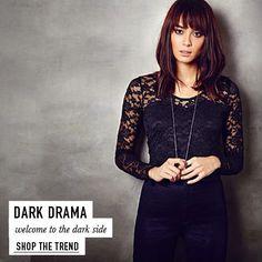 Dark Drama welcome to the dark side < Shop The Trend>