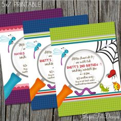 Bug Birthday Party Invitation Bugs Garden With Photo