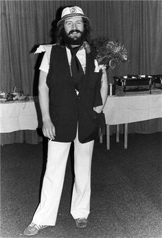 And he's just getting started!  Bonzo backstage 1975.