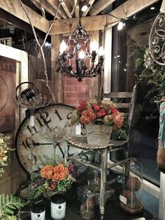 Late summer/ before fall booth display