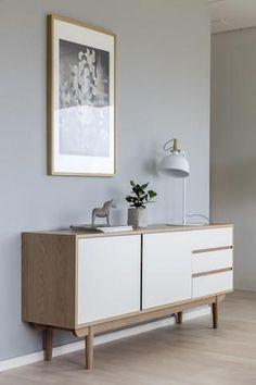 Komoda Skarb biało – dębowa Craft Cabinet, Upholstered Platform Bed, Oak Color, Oak Cabinets, Sideboard Buffet, Skagen, Adjustable Shelving, Solid Oak, Interior Styling