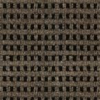 Foss Premium Self-Stick First Impressions Tattersall Chestnut with Black Texture 24 in. x 24 in. Carpet Tile - The Home Depot Foss Manufacturing First Impressions Tattersall Chestnut with Black Texture 24 in. x 24 in.