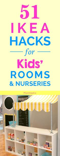 From nurseries to teen and tween rooms, I've pulled together 51 awesome IKEA hacks for kids rooms that'l add a ton of personality and style to otherwise basic pieces.
