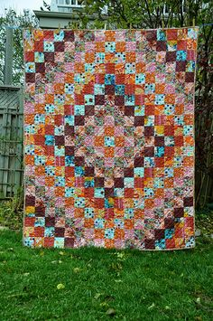 trip around the world quilt- I've done three and I'll probably make more!  They're so fun and easy :)