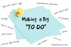 """Has your to-do list got you down? Help is here ==>On making an effective """"to do"""" list and then actually following it!"""
