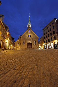 Notre Dame Des Victories at Place Royale In Quebec, Canada.