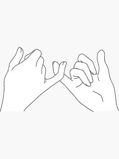 malen 'pinky promise' Sticker by katielavigna Diy Embroidery, Embroidery Patterns, Pinky Promise Tattoo, Pinky Promise Quotes, Outline Art, Minimalist Drawing, Best Friend Tattoos, Easy Drawings, Minimal Drawings