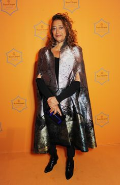 Zaha Hadid at the Veuve Clicquot Business Woman Award ceremony in London in 2013. Photo by Getty Images.