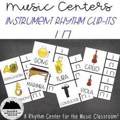 Instrument Clip It Rhythm Center Music Education, Music Teachers, Movement Activities, Music And Movement, Classroom Activities, Classroom Ideas, Elementary Music, Teaching Music, Activity Centers