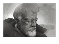 Star Wars - A New Hope large art print: Ben 'Obi Wan' Kenobi by Mygrimmbrother, £25.00